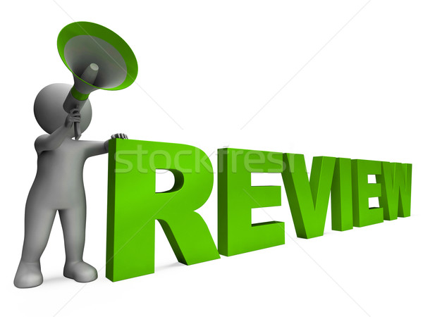 Review Character Shows Assessing Evaluating Evaluate And Reviews Stock photo © stuartmiles