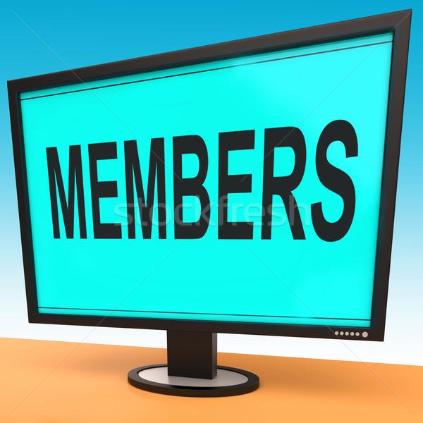 Online lidmaatschap registratie web tonen Stockfoto © stuartmiles