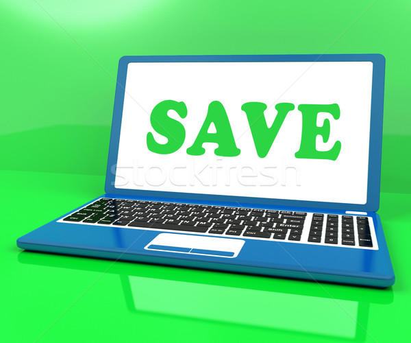 Save Laptop Shows Promotion Sales Discounts Or Clearance Stock photo © stuartmiles
