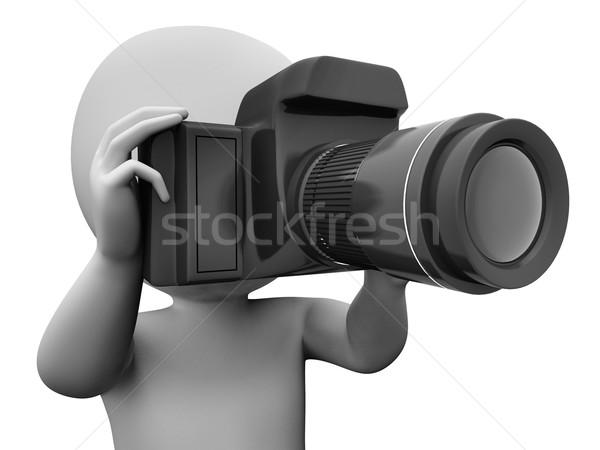 Fotó karakter elvesz kép dslr fénykép Stock fotó © stuartmiles