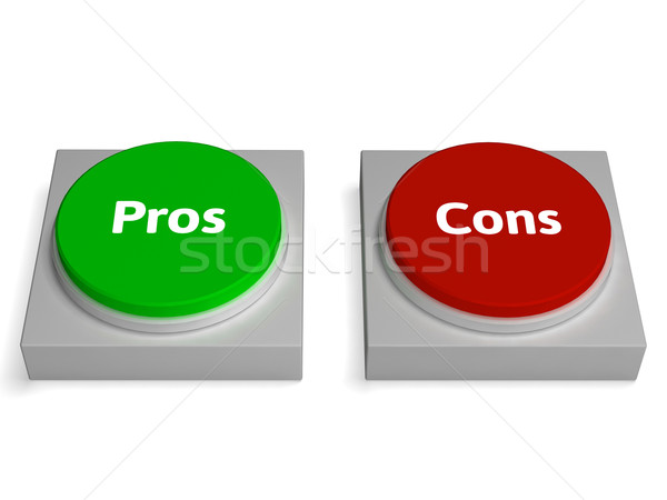 Pros Cons Buttons Show Positive Or Negative Stock photo © stuartmiles