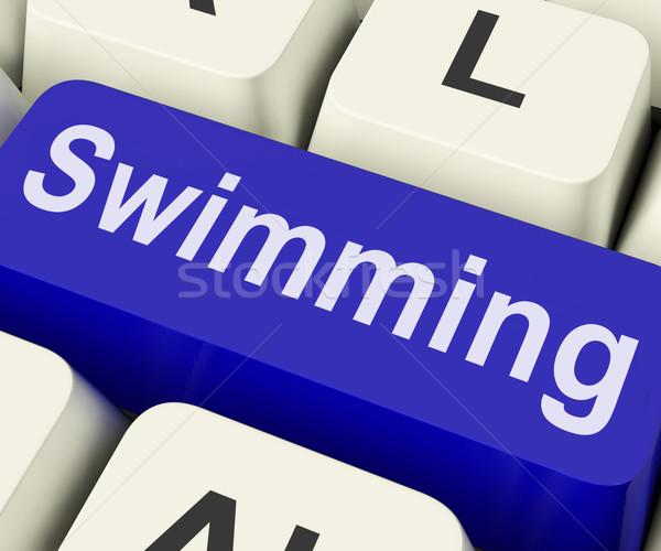 Swimming Key Means Water Sport Stock photo © stuartmiles