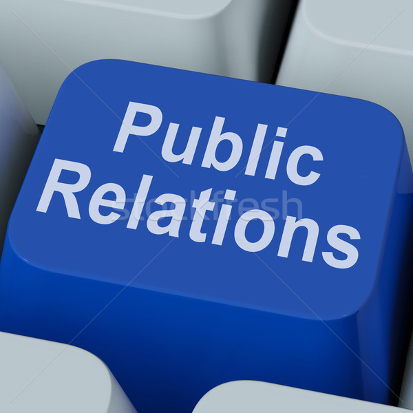 Public Relations Key Means News Media Communication Online Stock photo © stuartmiles