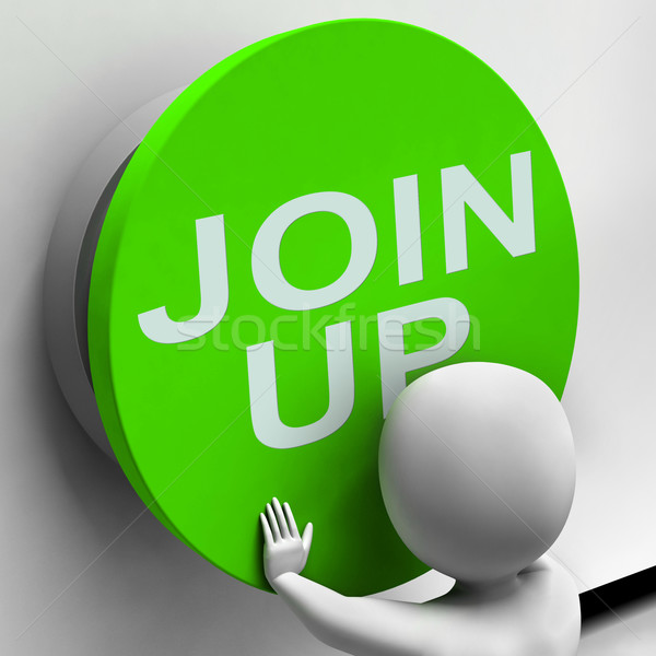 Stock photo: Join Up Button Means Subscribe Or Become A Member