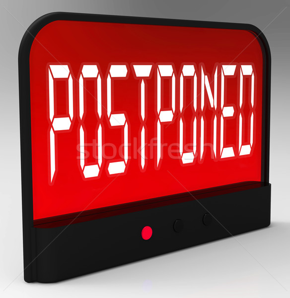 Postponed Clock Means Delayed Until Later Time Stock photo © stuartmiles