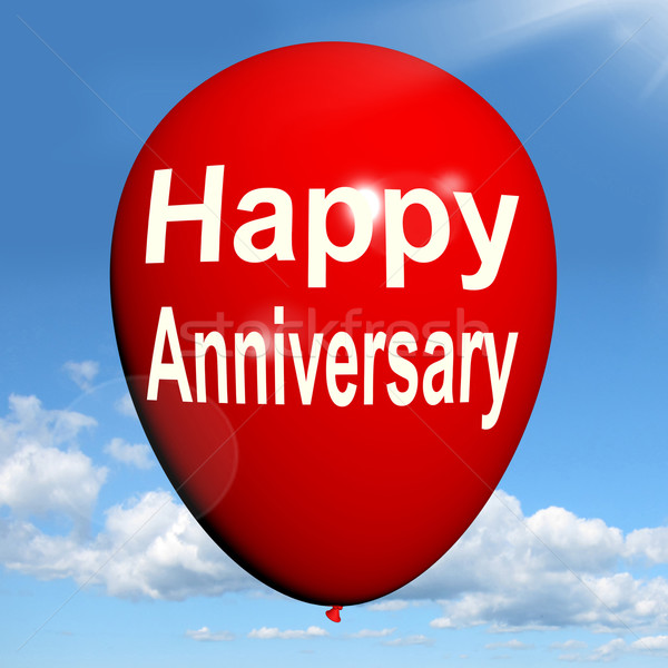 Happy Anniversary Balloon Shows Cheerful Festivities and Parties Stock photo © stuartmiles