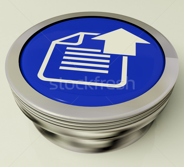 Upload Arrow And File Button Shows Uploaded Software or Data Stock photo © stuartmiles