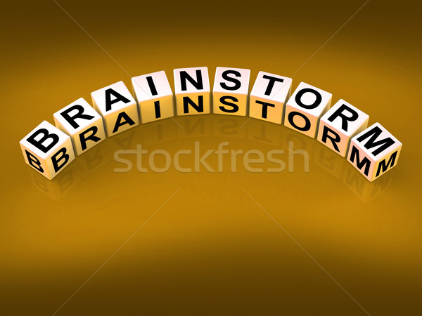 Stock photo: Brainstorm Dice Shows Creative Ideas And Thoughts