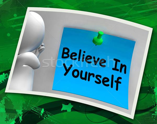 Você mesmo foto crença nota Foto stock © stuartmiles