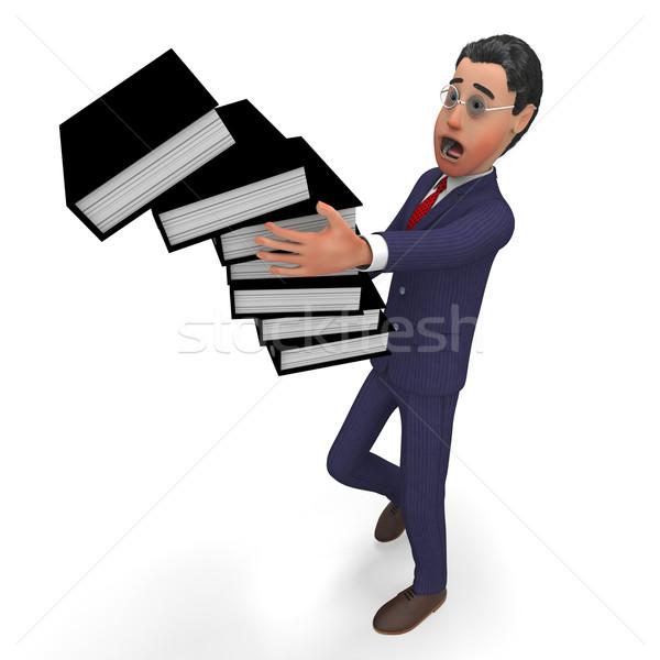 Informatie overbelasten zakenman administratie kennis corporate Stockfoto © stuartmiles