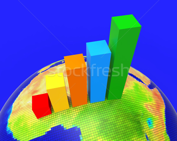 Africa Graph Indicates Financial Report And Analysis Stock photo © stuartmiles
