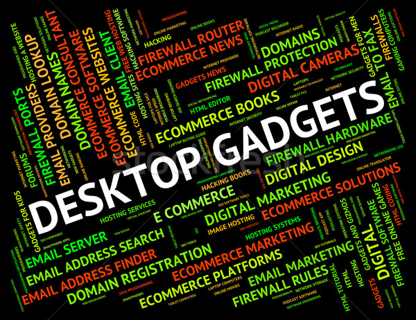 Desktop gadgets apparaat home bureau machine Stockfoto © stuartmiles