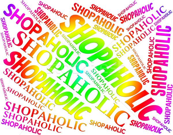 Palabra menor ventas adicto dependencia compras Foto stock © stuartmiles