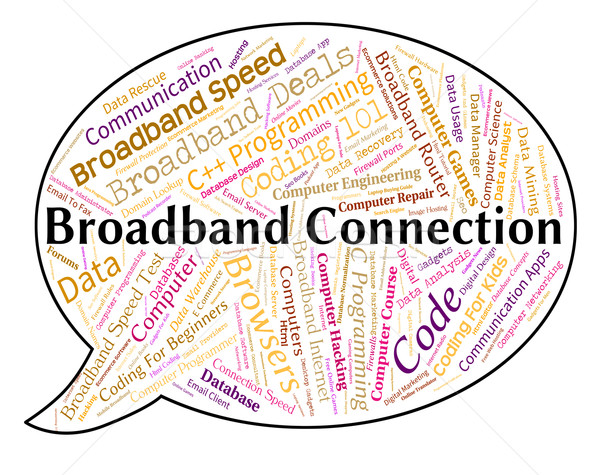 Broadband Connection Represents World Wide Web And Computing Stock photo © stuartmiles