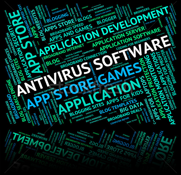 Antivirus Software Indicates Spyware Words And Unsecured Stock photo © stuartmiles