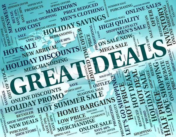Muhteşem pazarlık anlaşma Stok fotoğraf © stuartmiles