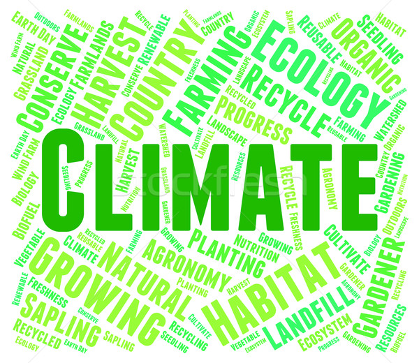 Climate Word Means Weather Patterns And Clime Stock photo © stuartmiles