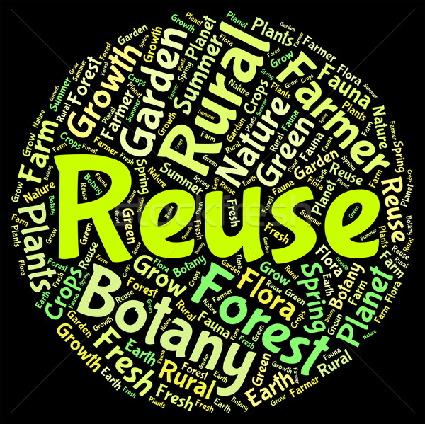 Reuse Word Shows Go Green And Recycled Stock photo © stuartmiles