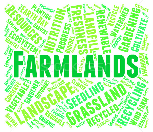 Farmlands Word Represents Agricultural Words And Farmed Stock photo © stuartmiles