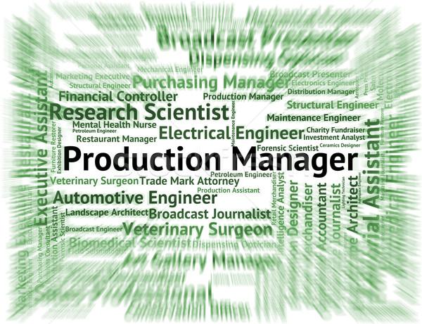 Producción gerente empleado supervisor fabricación jefe Foto stock © stuartmiles