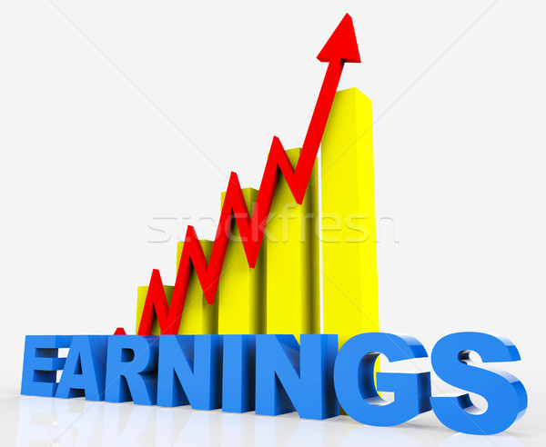 Increase Earnings Means Progress Report And Diagram Stock photo © stuartmiles