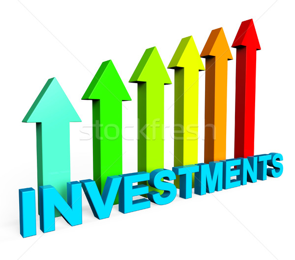 Investment Increasing Means Financial Report And Document Stock photo © stuartmiles