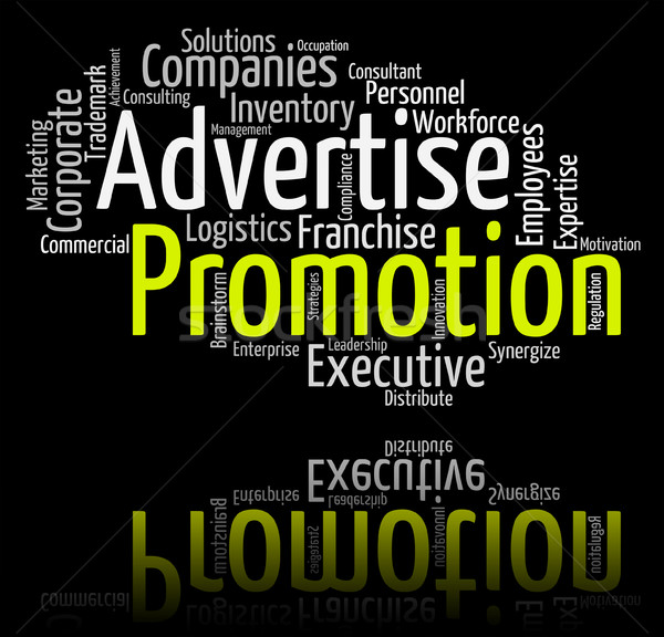 Promotion Word Indicates Promotional Discounts And Discount Stock photo © stuartmiles