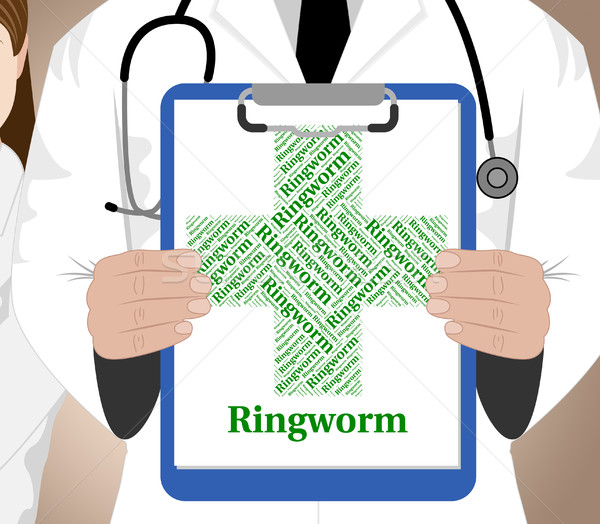 Ringworm Word Means Poor Health And Afflictions Stock photo © stuartmiles