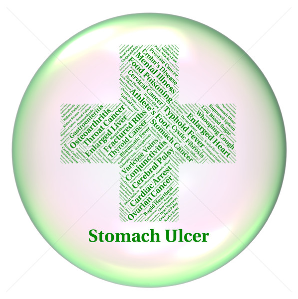 Stomach Ulcer Represents Poor Health And Abscess Stock photo © stuartmiles