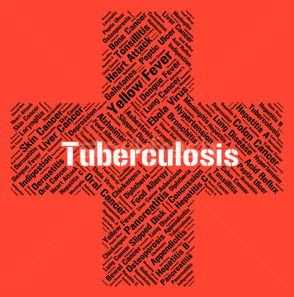 Tuberculosis Word Means Poor Health And Affliction Stock photo © stuartmiles