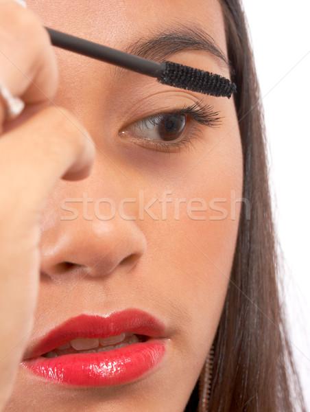 Giovane ragazza mascara ciglia ragazza faccia Foto d'archivio © stuartmiles