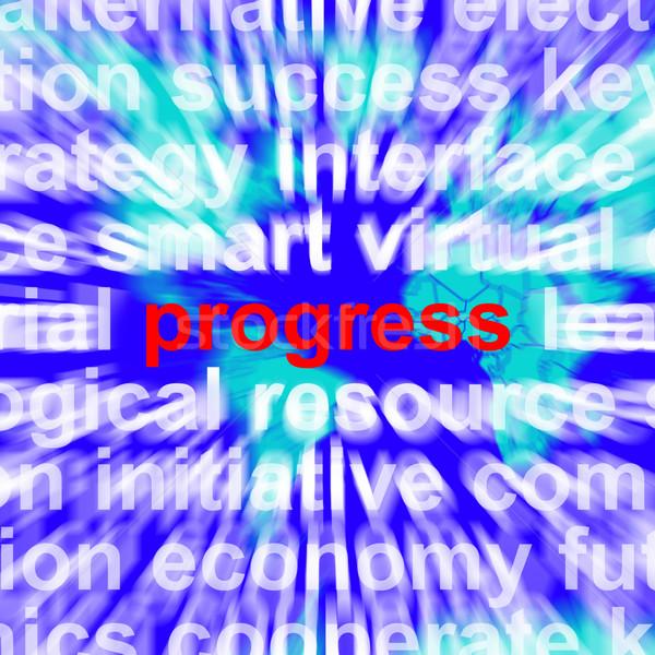 Progreso palabra significado crecimiento beneficio mejora Foto stock © stuartmiles