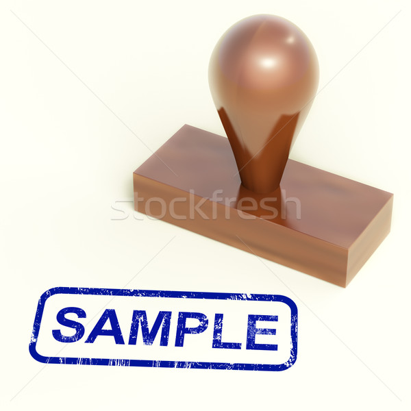 Sample Stamp Shows Examples Symbol Or Taste Stock photo © stuartmiles