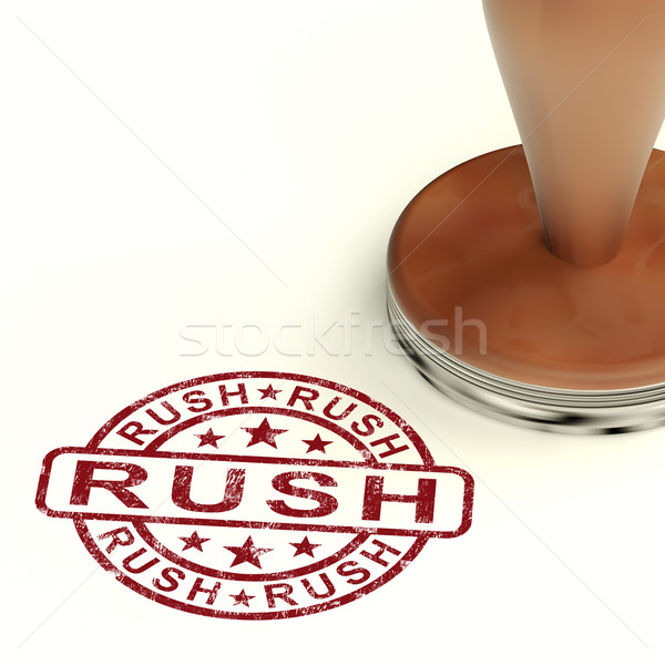 Rush Stamp Shows Speedy Urgent Express Delivery Stock photo © stuartmiles
