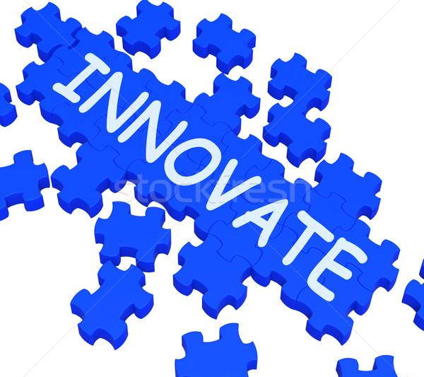 Innovate Puzzle Shows Creative Design Stock photo © stuartmiles