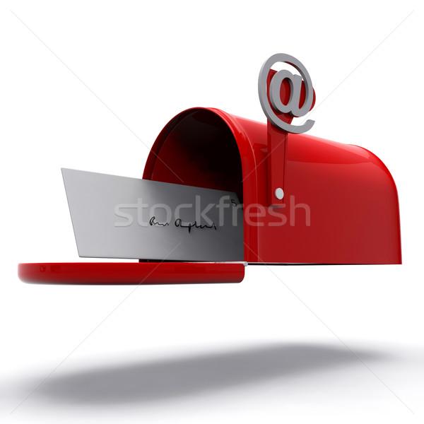 Mail Box Shows E-mail Correspondence Stock photo © stuartmiles