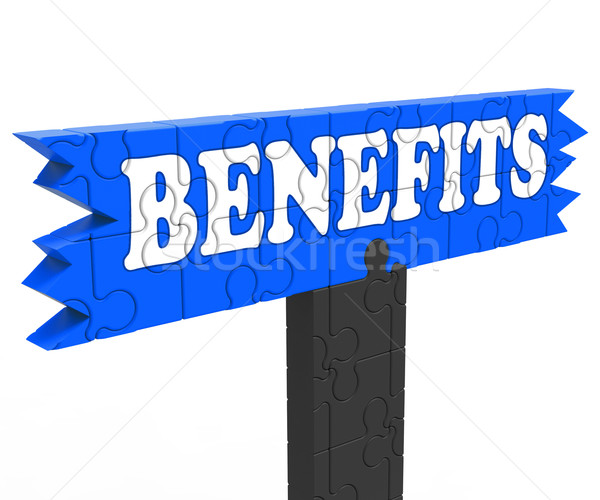 Benefits Shows Bonus Perks Or Rewards Stock photo © stuartmiles
