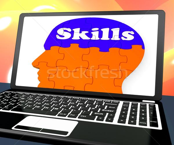 навыки мозг ноутбука человека Сток-фото © stuartmiles