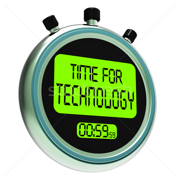 Time For Technology Message Shows Innovation Improvement And Hi  Stock photo © stuartmiles