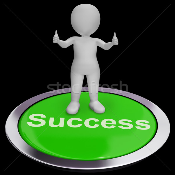 Success Button Shows Achievements Strategy And Determination Stock photo © stuartmiles