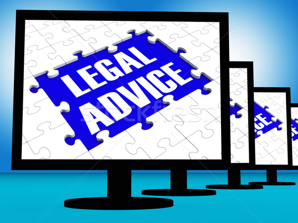 Legal Advice On Monitors Shows Legal Consultation Stock photo © stuartmiles