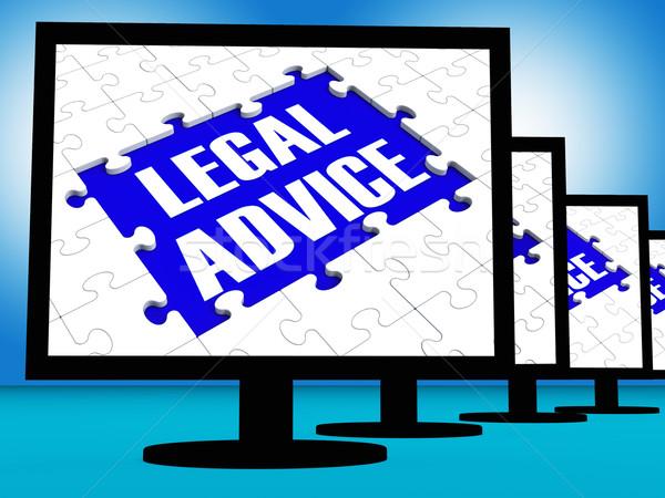 Jogi tanács konzultáció útmutatás internet törvény Stock fotó © stuartmiles