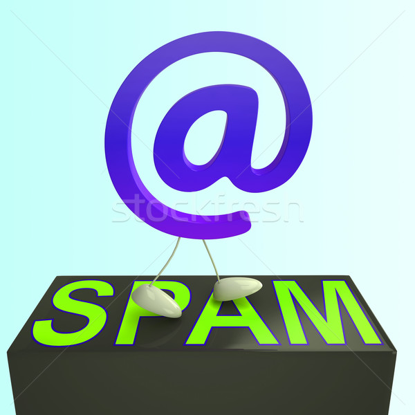 At Sign Spam Shows Malicious Electronic Junk Mail Stock photo © stuartmiles