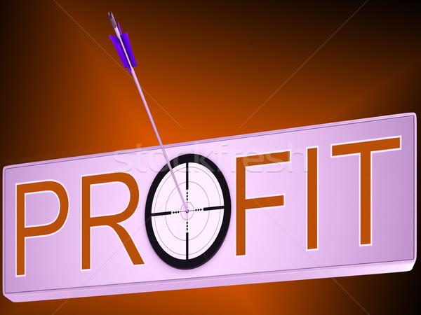 Kâr finansal yatırım başarı büyüme Stok fotoğraf © stuartmiles