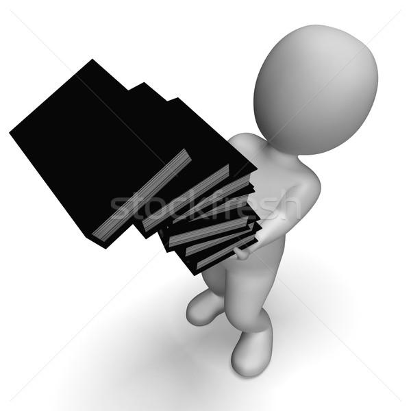 Arquivos desajeitado escritório documentos cair gestão Foto stock © stuartmiles