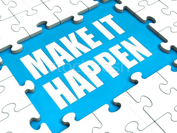 Stock fotó: Gyártmány · puzzle · motiváció · vezetőség · tevékenység · mutat
