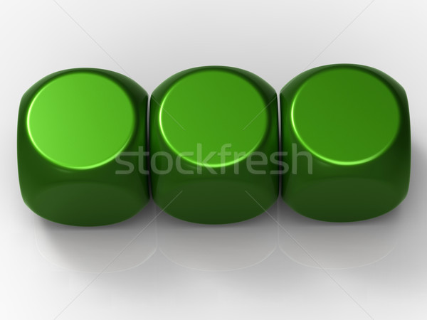Three Blank Dice Show Background For 3 Letter Word Stock photo © stuartmiles