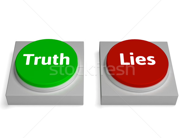 Stock photo: Truth Lies Buttons Show True Or Liar