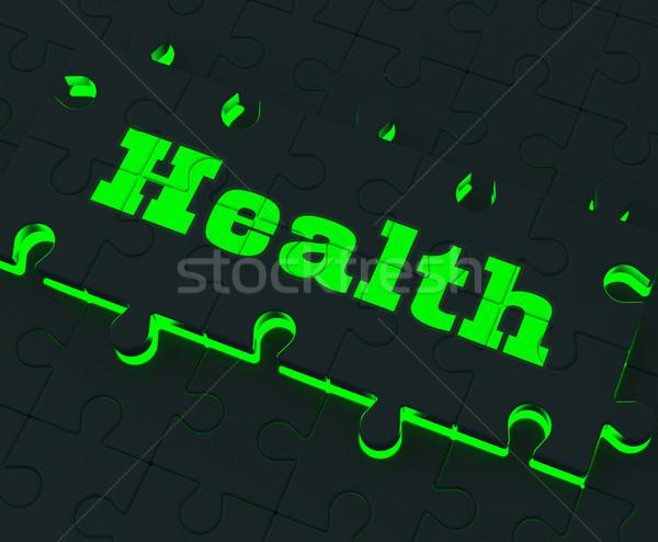 здоровья головоломки здорового медицинская помощь Сток-фото © stuartmiles