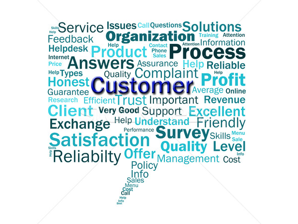 Customer Diagram Means Consumer Customers Or Buyer Stock photo © stuartmiles